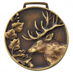 Medaille mit Hirsch-Emblem
