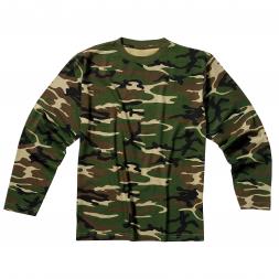 Mil-Tec Herren Langarm-Shirt (woodland)