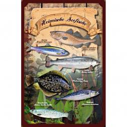 Nostalgie-Blechschild Seefische
