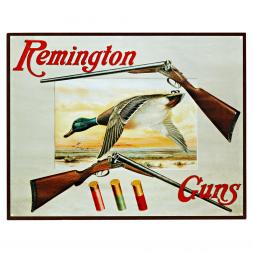"Nostalgie-Schild mit Jagdmotiv ""Remington Guns"""