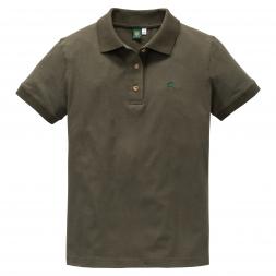 OS Trachten Damen Poloshirt Stickmotiv Hirsch