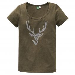 OS Trachten Damen T-Shirt Hirsch aus Strass