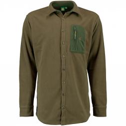 OS Trachten Herren Fleecehemd mit Brusttasche