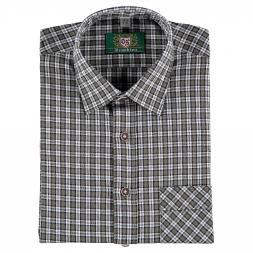 OS Trachten Herren Langarmhemd mit Brusttasche