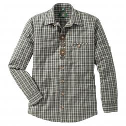 OS Trachten Herren Langarmhemd Regular Fit