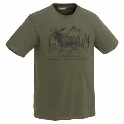 Pinewood Herren T-Shirt Moose (grün)