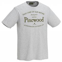 Pinewood Herren T-Shirt Save Water (grau meliert)