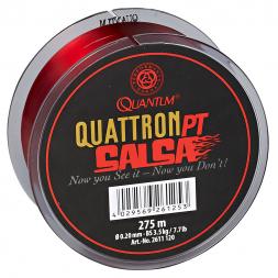 Quantum Angelschnur Quattron Salsa (transparent-rot, 275 m)
