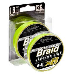 Quantum Angelschnur Smoke Braid Jigging Line (sight yellow, 150 m)