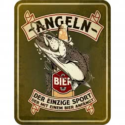 "Rahmenlos Blechschild ""-Angeln-"""