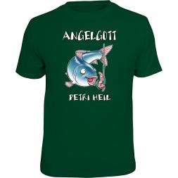 "Rahmenlos Herren T-Shirt ""Angelgott - Petri Heil"""