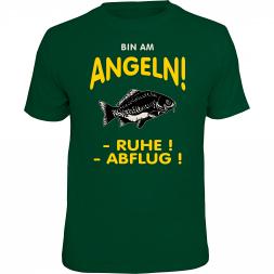"Rahmenlos Herren T-Shirt ""Bin am Angeln - Ruhe! Abflug!"""