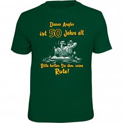 """Rahmenlos Herren T-Shirt """"Dieser Angler ist 50 Jahre alt"""""""