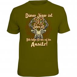 """Rahmenlos Herren T-Shirt """"Dieser Jäger ist 50 Jahre"""""""