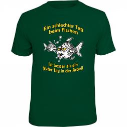 """Rahmenlos Herren T-Shirt """"Ein schlechter Tag beim Fischen..."""""""