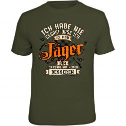 """Rahmenlos Herren T-Shirt """"Ich habe nie gesagt, dass ich der beste Jäger bin..."""""""