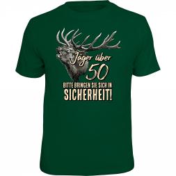 "Rahmenlos Herren T-Shirt ""Jäger über 50..."""