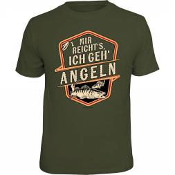 """Rahmenlos Herren T-Shirt """"Mir reichts - Ich geh Angeln"""""""