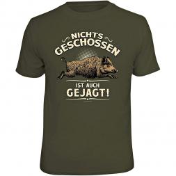 "Rahmenlos Herren T-Shirt ""NICHTS GESCHOSSEN IST AUCH GEJAGT!"""