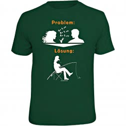 "Rahmenlos Herren T-Shirt ""Problem: Bla Bla Bla - Lösung"""
