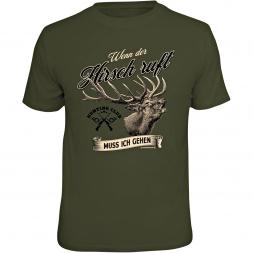 """Rahmenlos Herren T-Shirt """"Wenn der Hirsch ruft"""""""