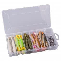 Savage Gear Gummiköder-Set Fat Minnow (T-Tail Kit)