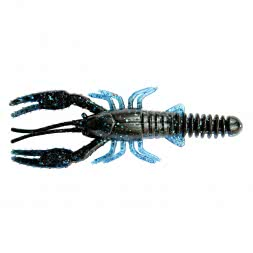 "ShadXperts Baby Crawfish 3"" Black Blue/Electric Blue"