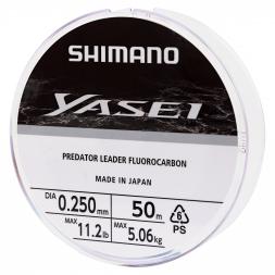 Shimano Yasei Predator Fluorocarbon Angelschnur (transparent, 50 m)