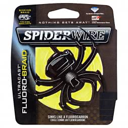 Spiderwire Angelschnur Ultracast Fluorobraid (Yellow, 110 m)