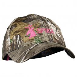 Spika Damen Kappe (Camo/pink)