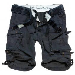 Surplus Herren Division Shorts (schwarz/camouflage)