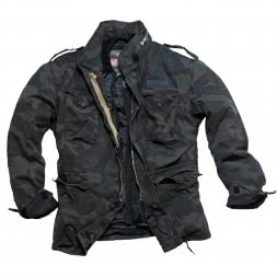 Surplus Herren Outdoor-Jacke M65 Regiment (schwarz/camouflage)