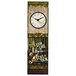 Uhr mit aufgedrucktem Motiv und Schriftzug