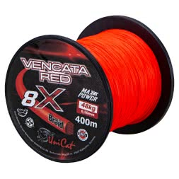 Uni Cat Wallerschnur Vencata Red 8X Braid (400 m)
