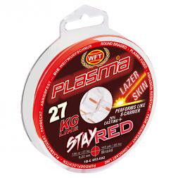WFT Angelschnur Plasma Stay Red Lazer Skin (rot, 150 m)