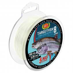 WFT Angelschnur Target Fish 8 Forelle/Meerforelle (semi-transparent)
