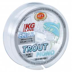 WFT Angelschnur Trout Mono (transparent, 200 m)