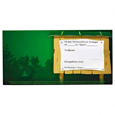 Einladungskarte für die Treibjagd