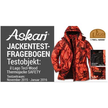 il Lago Prestige Herren Thermojacke Safety (Tecl-Wood)