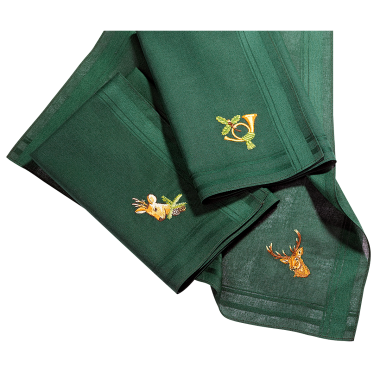 Handkerchiefs with Hunting Motifs
