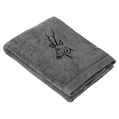 il Lago Passion Shower Towel DEER anthracite