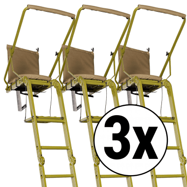Tree seat RACCOON 3er set