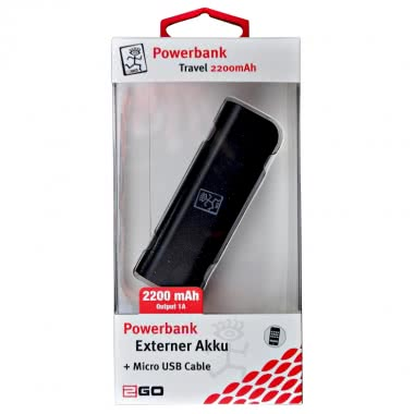 2GO PowerBank Travel 2200mAH Battery