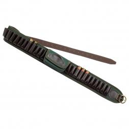 Ammunition belt with canvas pouch