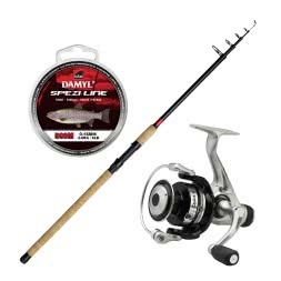 As Set DAM Stick II Tele Trout + DAM Quick I 2000 RD + DAM Damyl Spezi Line Trout