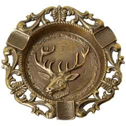 Ashtray with stags head motive
