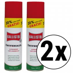 Ballistol Universal Oil Spray - 240 ml special size - 20% more content (Set of 2)