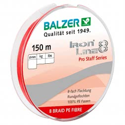 Balzer Fishing Line Iron Line 8 Pro Staff (red, 150 m)
