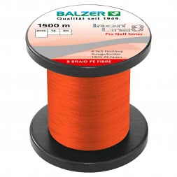 Balzer Fishing Line Iron Line 8 Pro Staff (red, 1.500 m)