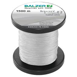 Balzer Fishing Line Iron Line Catfish (white, 1.500 m)